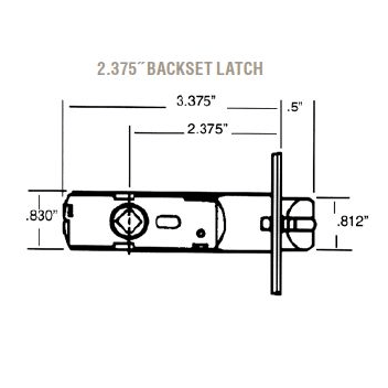 Baldwin Estate 5513 Lever Strength Passage Latch with 2-3