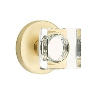 Emtek Modern Square Crystal Door Knob Set