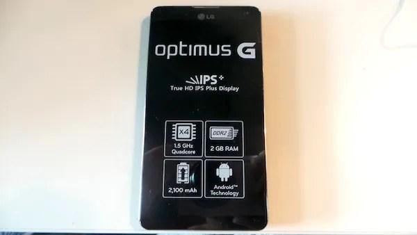 LG Optimus G Unboxing 6