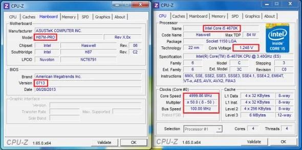 Intel 4th Gen Core processor overclocking on ASUS H87M-Pro