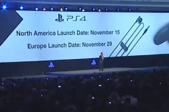 Sony PlayStation 4 US and UK Release Date Announcement @ Gamescom 2013