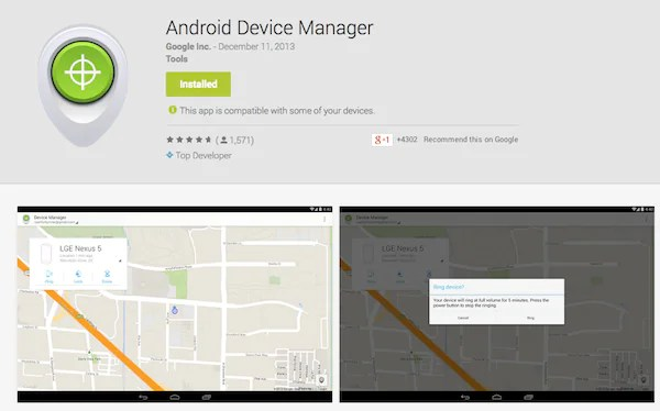Android Device Manager App