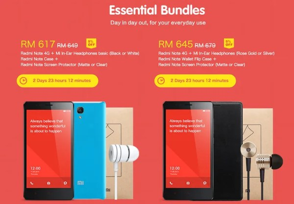 Xiaomi Malaysia Redmi NOte 4G Bundle