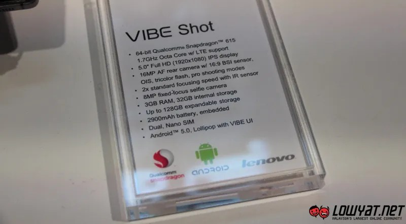 MWC 2015: Hands On with Lenovo Vibe Shot | Lowyat NET