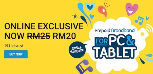 Digi RM20 Prepaid Broadband Plan