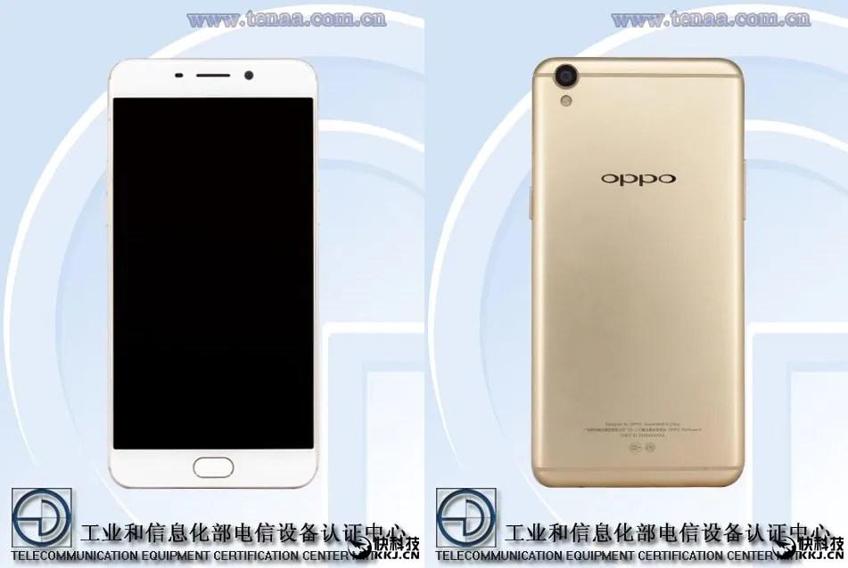 OPPO R9 on TENAA