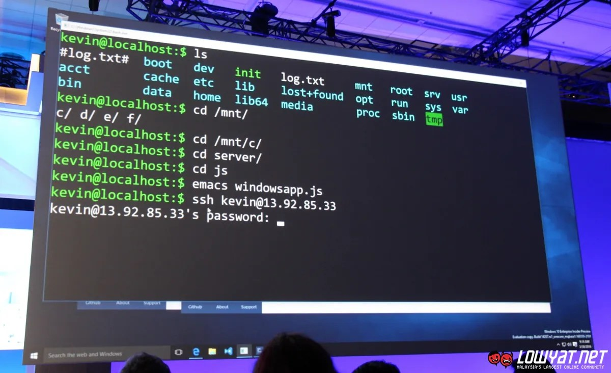 Build 2016: Ubuntu Linux Binaries and Bash Shell Officially