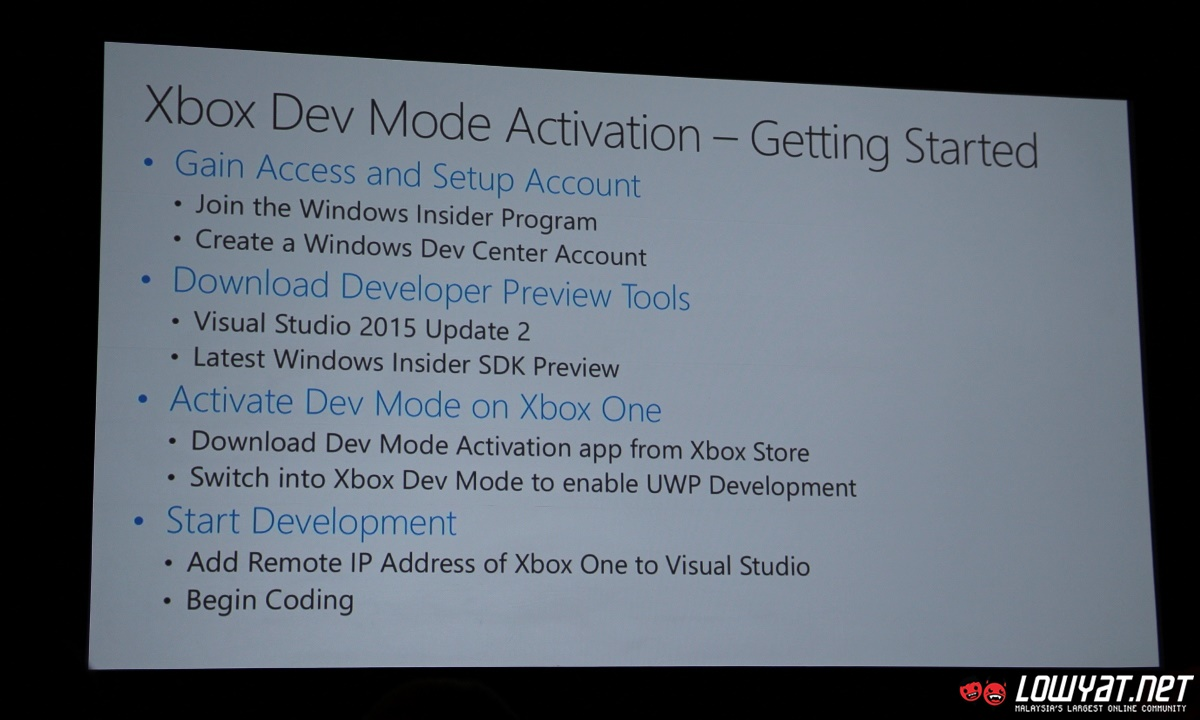 Build 2016: Dev Mode Allows All Xbox One To Become Dev Kit