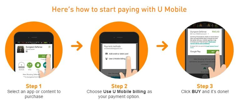 U Mobile Carrier Billing For Google Play