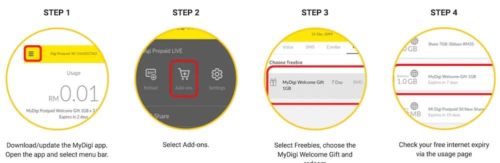 Digi Introduces New MyDigi App, Offers Free 3GB of Data