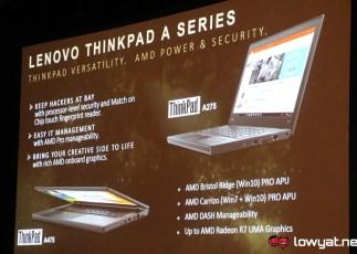Lenovo ThinkPad A Series - Powered by AMD Pro