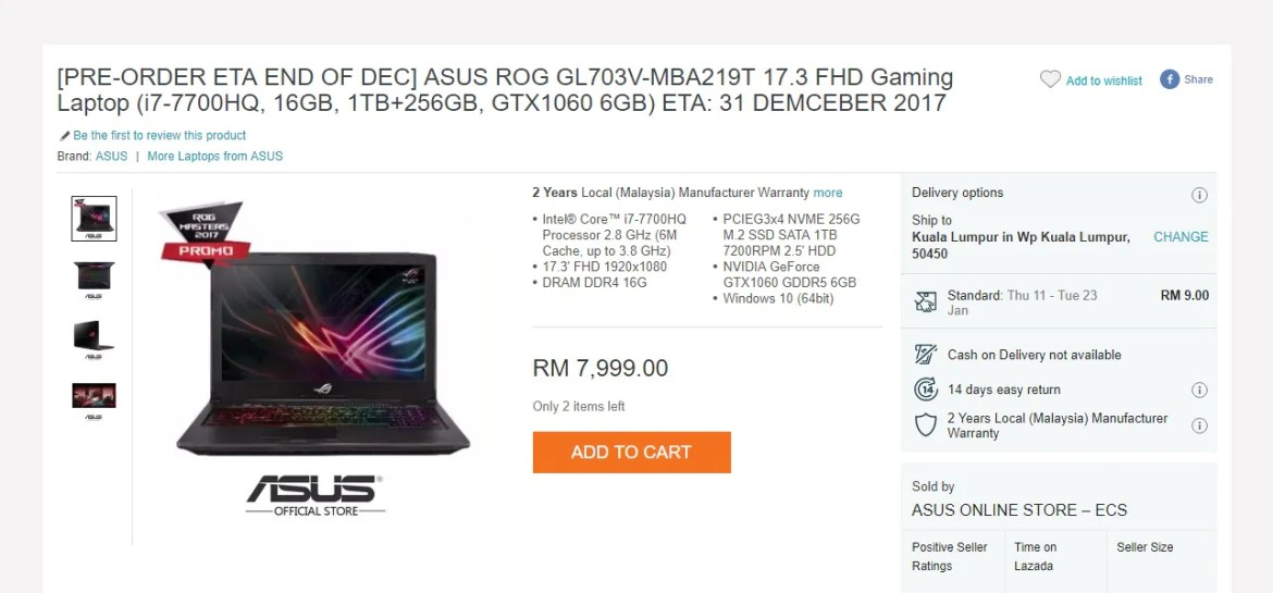 New Asus ROG Gaming Laptops Go On Pre-order