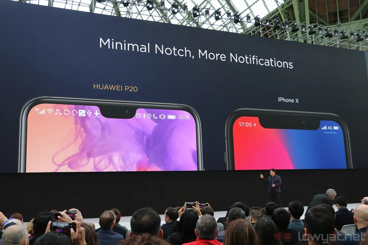 Moving on, we have to address something here: the P20 phones' display  notch. Sure, it's similar to the iPhone X's design, but it's one method to  maximise ...