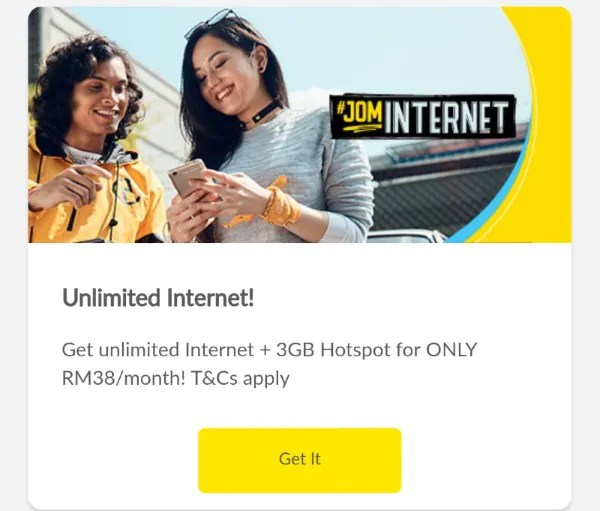 Digi Might Be Offering Unlimited Internet Prepaid Plan For