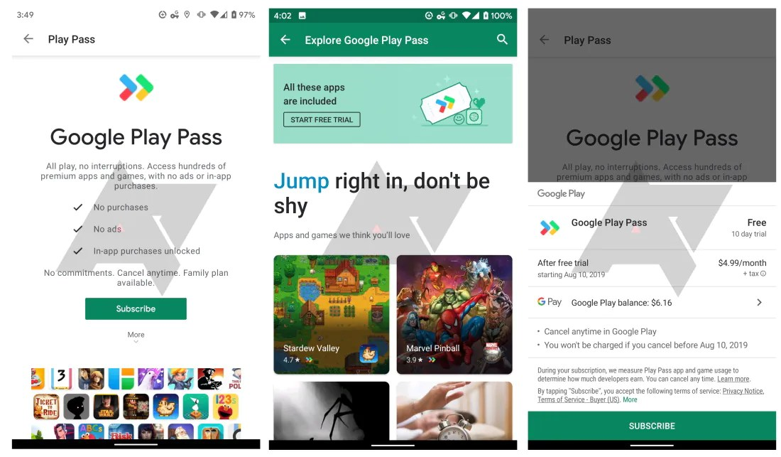 Google Play Pass: A Subscription Service for Apps and Games