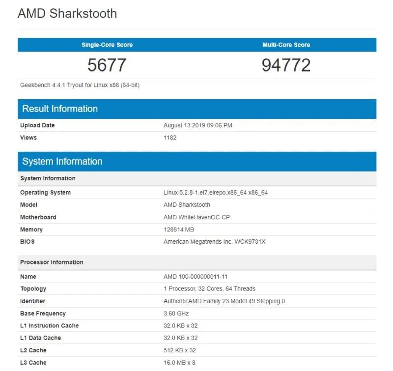 Alleged 3rd Generation AMD Ryzen Threadripper Benchmarks