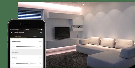Ovládání LED pásku pomocí aplikace