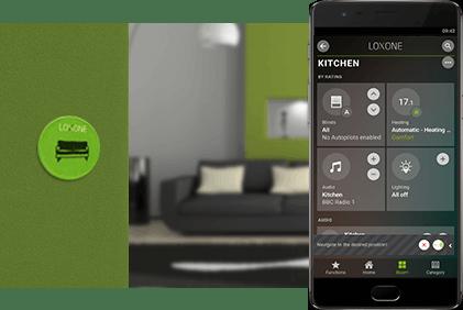 Smartphone a NFC štítek v obýváku