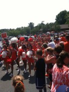 UVA Cheerleaders during the Wahoo Walk