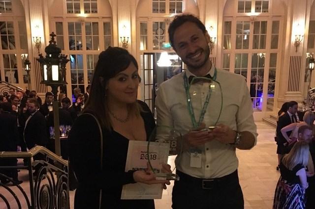 Sophie and Jason winning 2 awards