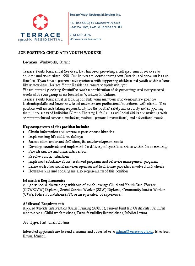 cover letter for youth worker - Kozen.jasonkellyphoto.co