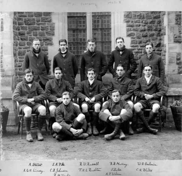 Charterhouse football 1st xi 1907-8