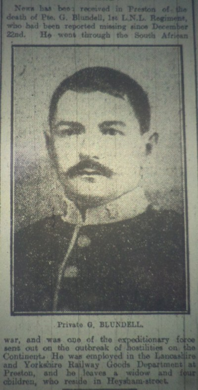 11225 PTE GEORGE BLUNDELL 1ST BN