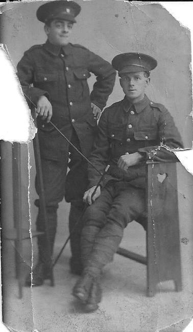 Utt. Bill & Moss Robert. Army Eng. 1916. 2 Preston boys