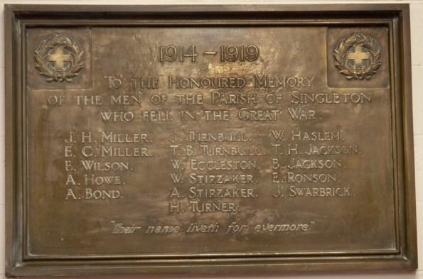 singleton memorial