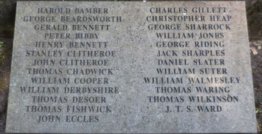 clayton war memorial names