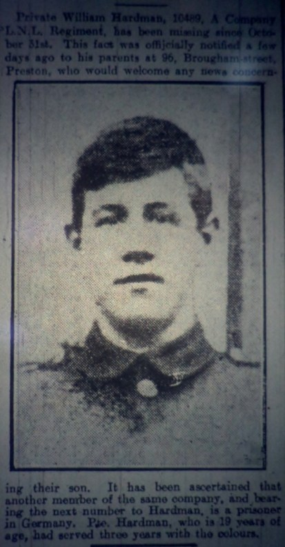 10439 Private William Hardman 1st Battalion