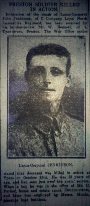 "9906 Lance Corporal John Jenkinson ""C"" Coy 1st Battalion"