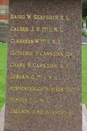 Harris Orphanage War Memorial Panel