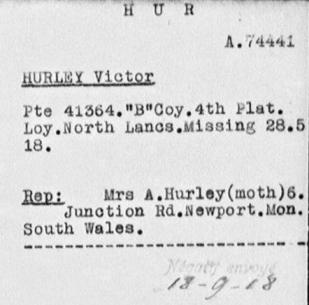 victor hurley POW