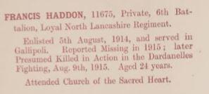 11675 PTE FRANCIS HADDON 2