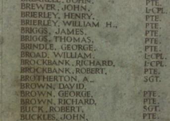 12214 Lance Corporal William Broad - harris museum RoH