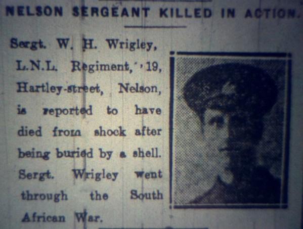 6201 Lance Sergeant William Henry Wrigley 1-4th Battalion