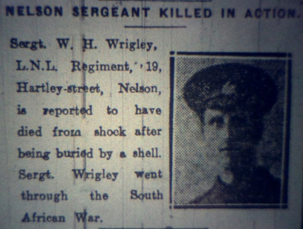 6201 Lance Sergeant William Henry Wrigley 1-4th Battalion