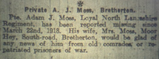 24615 Private Adam Johnson Moss 10th Battalion 2