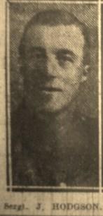 13989 Sergeant Joseph Hodgson 7th Battalion