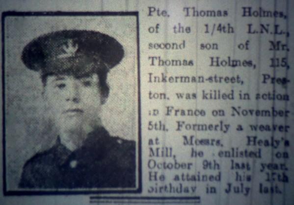 2843 Private Thomas Holmes