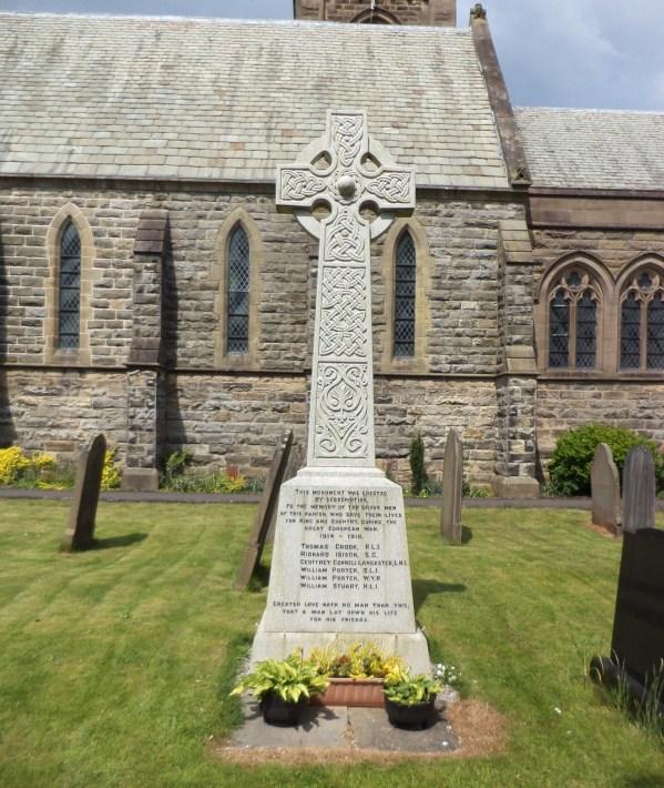 Inskip, St. Peter`s Church War Memorial Stone