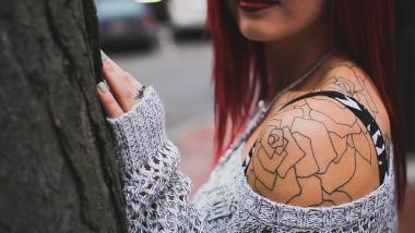 Woman's Shoulder Tattoo