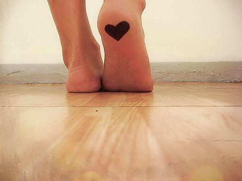 Heart Tattoo on Bottom of Foot