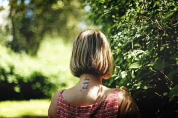 Small Neck Tattoo