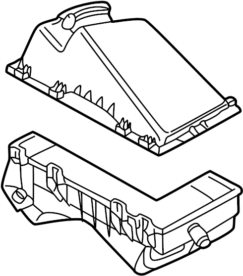 Volkswagen Jetta Air Filter and Housing Assembly. 1998