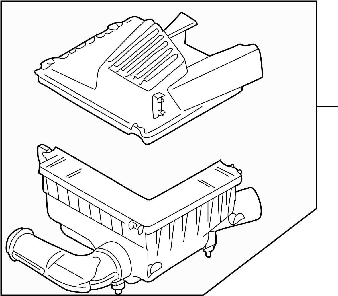 Volkswagen Cabrio Air Filter and Housing Assembly. AIR