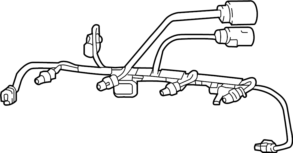Volkswagen Jetta Engine Wiring Harness. LITER, Secondary