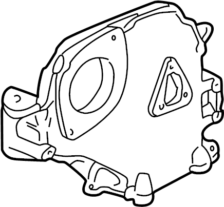 Volkswagen Jetta Engine Timing Cover. Upper, LITER