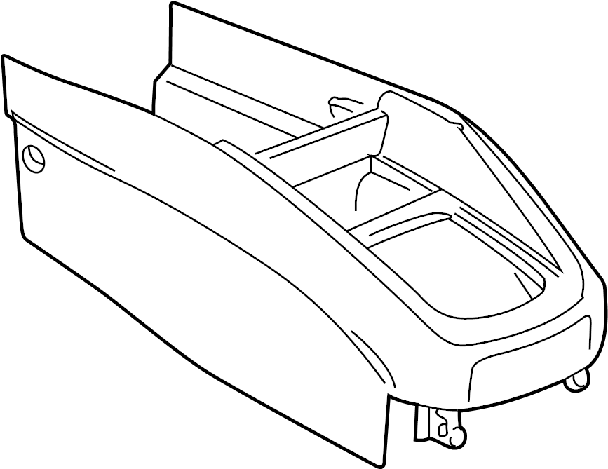 Volkswagen Jetta GLI Center Console (Front, Rear). Black